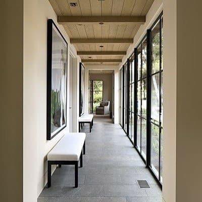 Hallway With Wood Ceiling Interior Design Ideas
