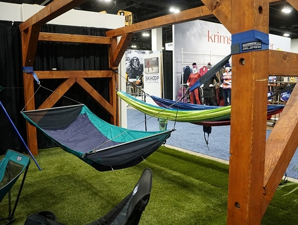 Hammock Display Outdoor Retailer Winter Market 2018