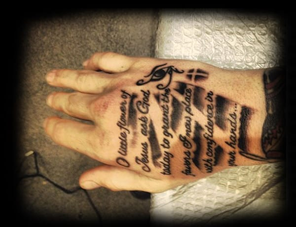 Hand Bible Verse Tattoo Ideas For Men