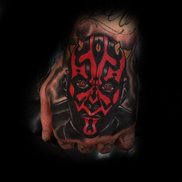Hand Darth Maul Tattoos For Gentlemen