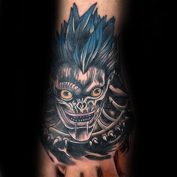 Hand Death Note Male Tattoos