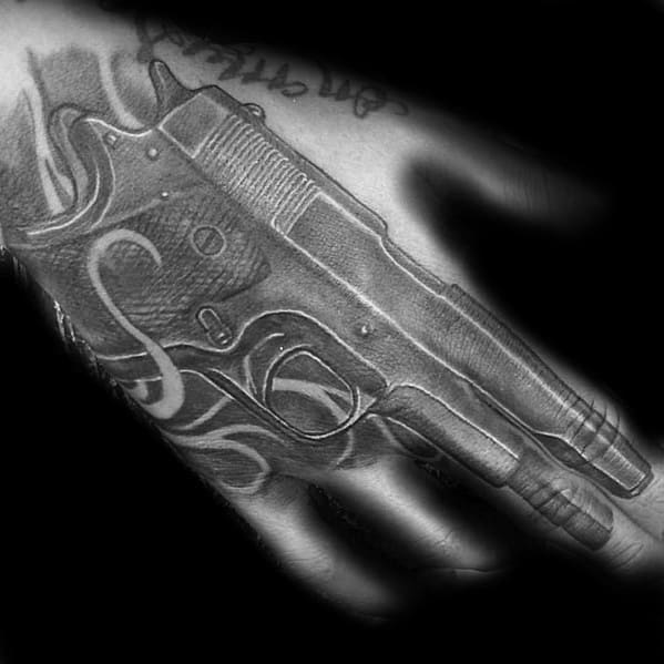 Hand Incredible 1911 Tattoos For Men