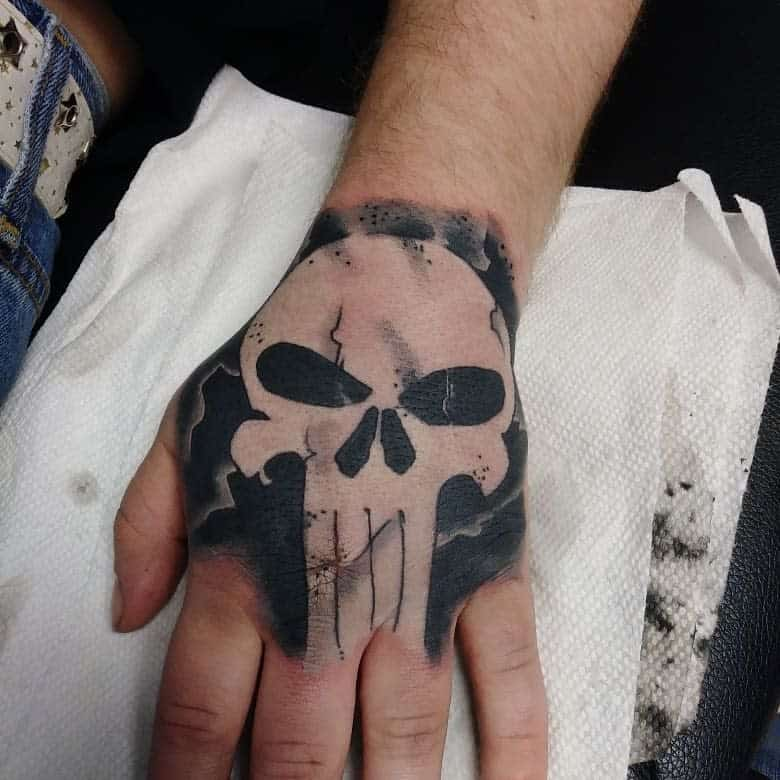 hand punisher skull tattoo jenningsalexander