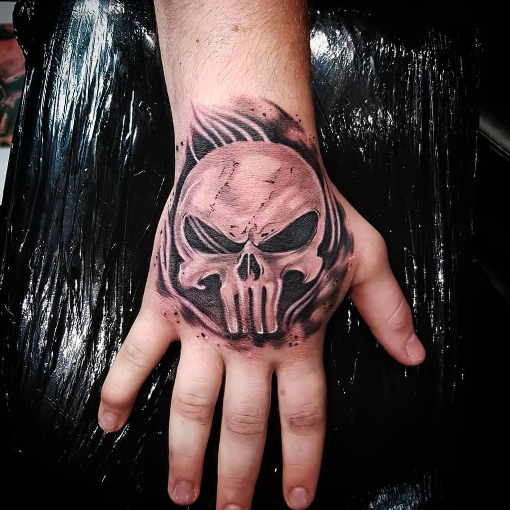 hand punisher skull tattoo pepe.ka_art
