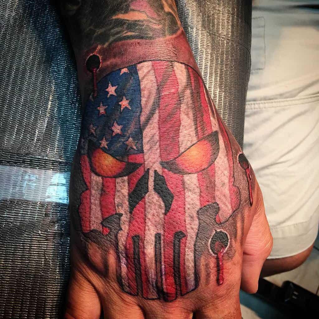 hand punisher skull tattoo vitosuscatattoos