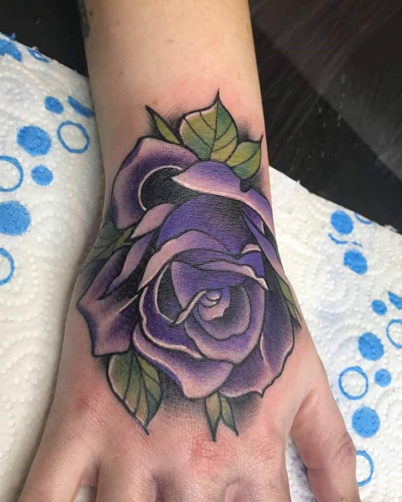 hand purple rose tattoos jamiemartin_tattoos