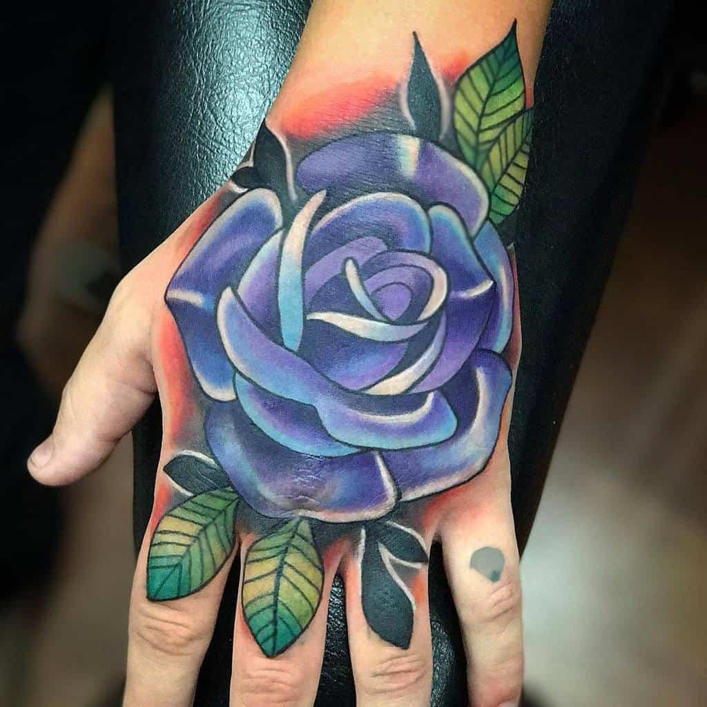 hand purple rose tattoos melissa_daye