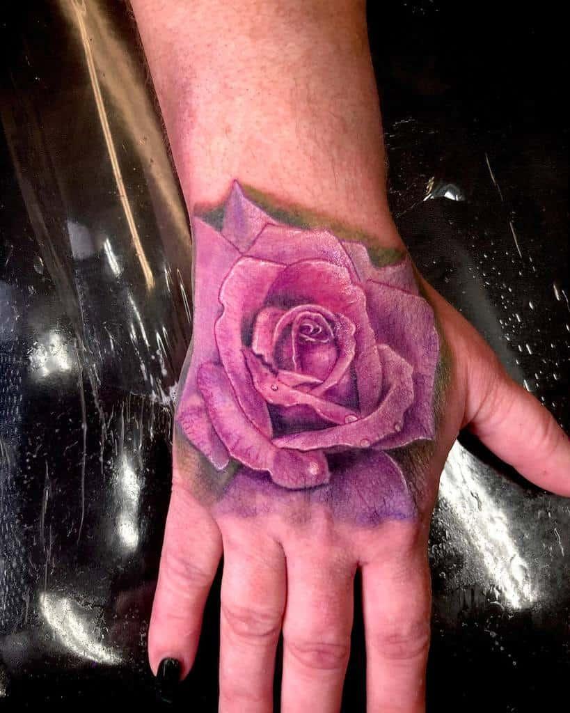 hand purple rose tattoos rob_beast_tat2