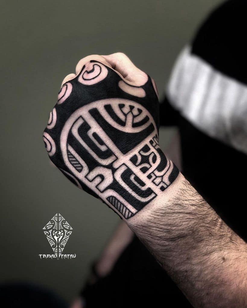 hand simple tribal tattoos tribal_tatau