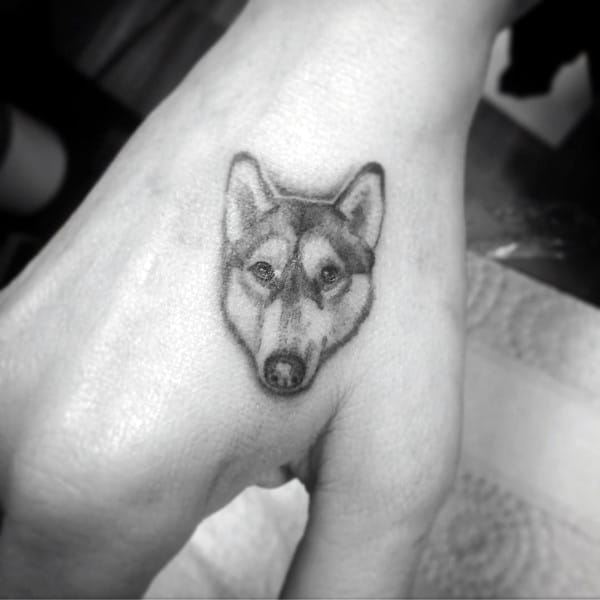 Hand Small Husky Tattoos For Men