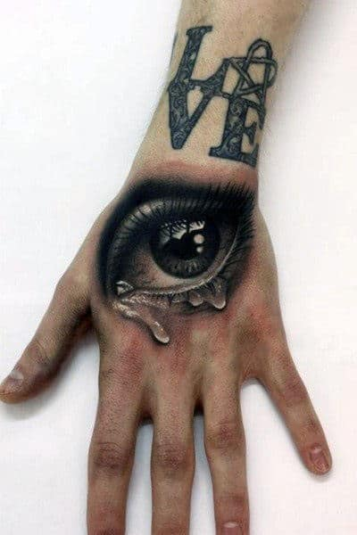 hand tattoo tattoos designs eye fist main mens realistic tatouage oeil fingers realiste 3d amazing sur avec heartagram awesome ink
