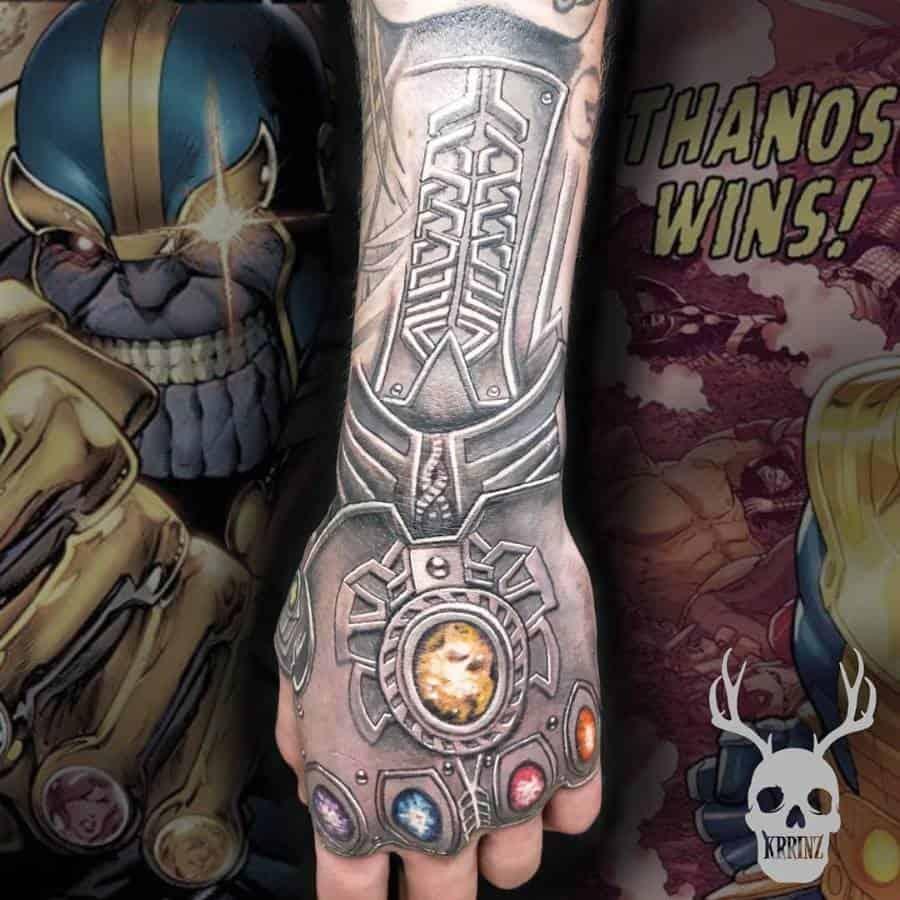 Hand Tattoo Thanos Tattoo 20200608 Krrinz