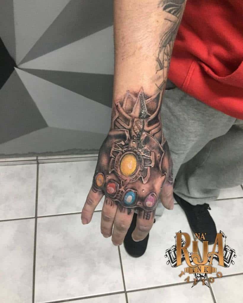 Hand Tattoo Thanos Tattoo 20200609 Ruansena