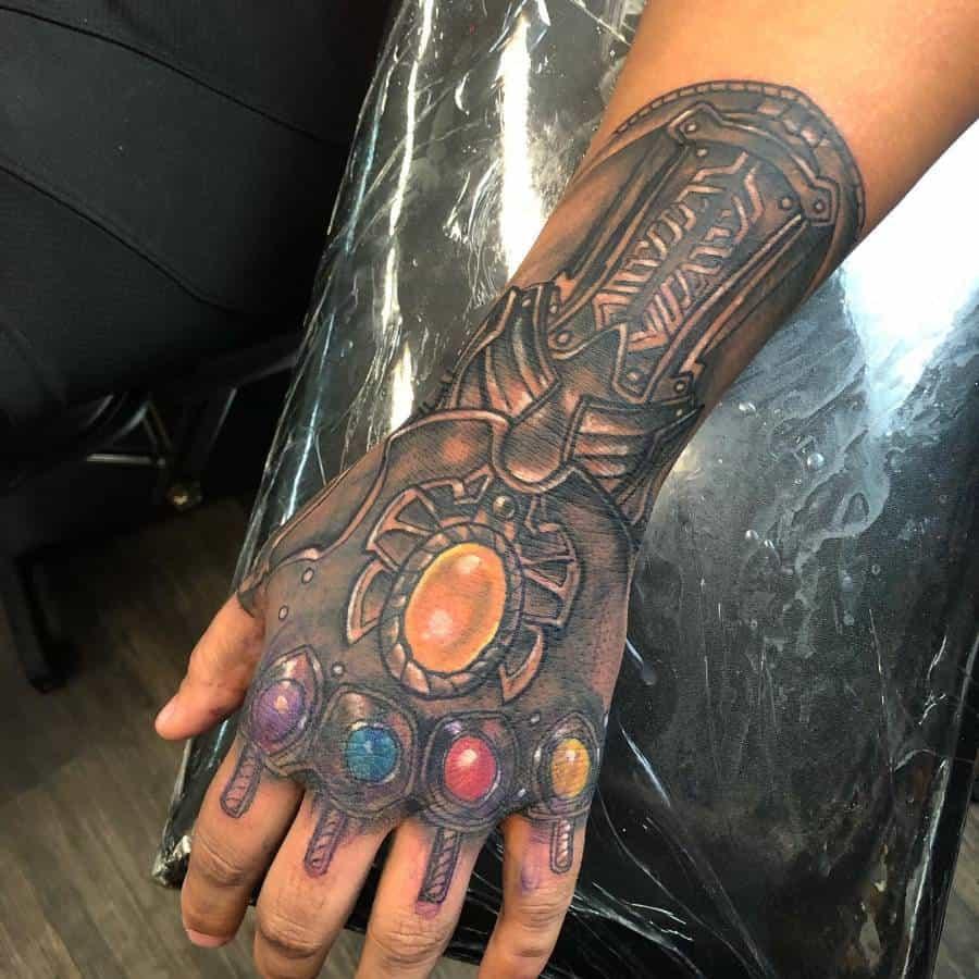 Hand Tattoo Thanos Tattoo Brandonsommerstattoo