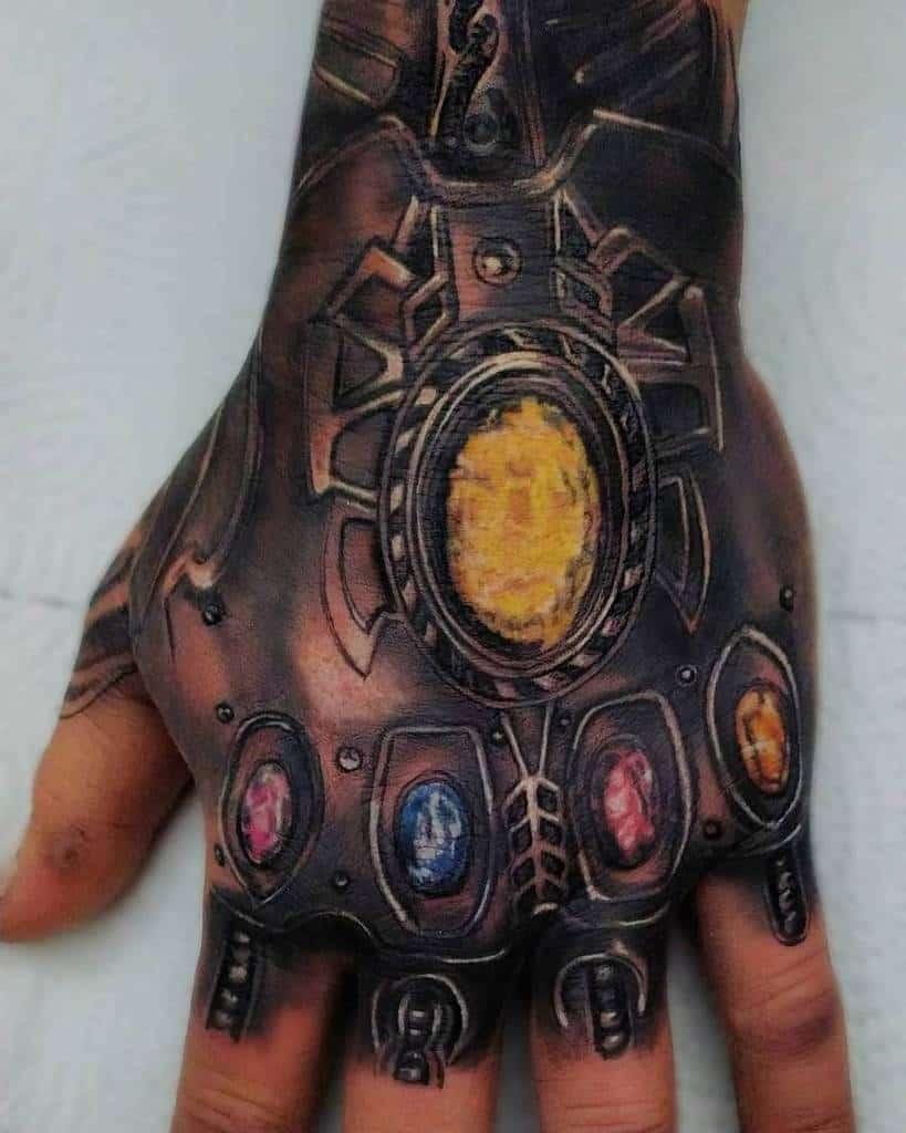 Hand Tattoo Thanos Tattoo Dio Tattoo
