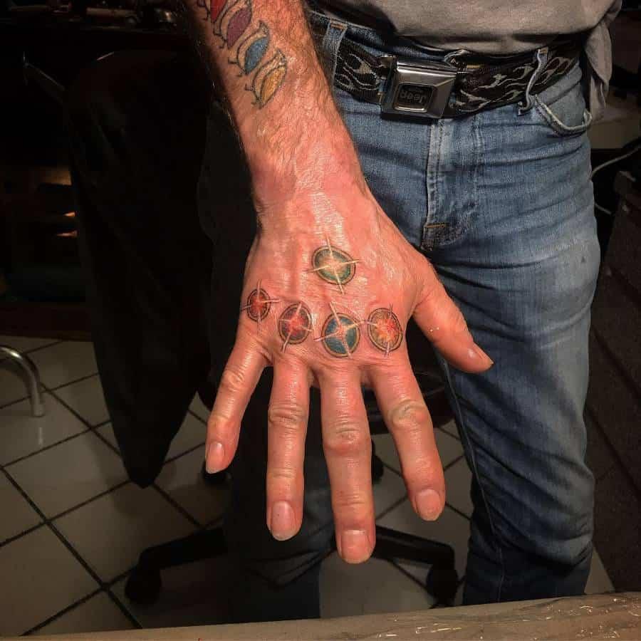 Hand Tattoo Thanos Tattoo Sloweace