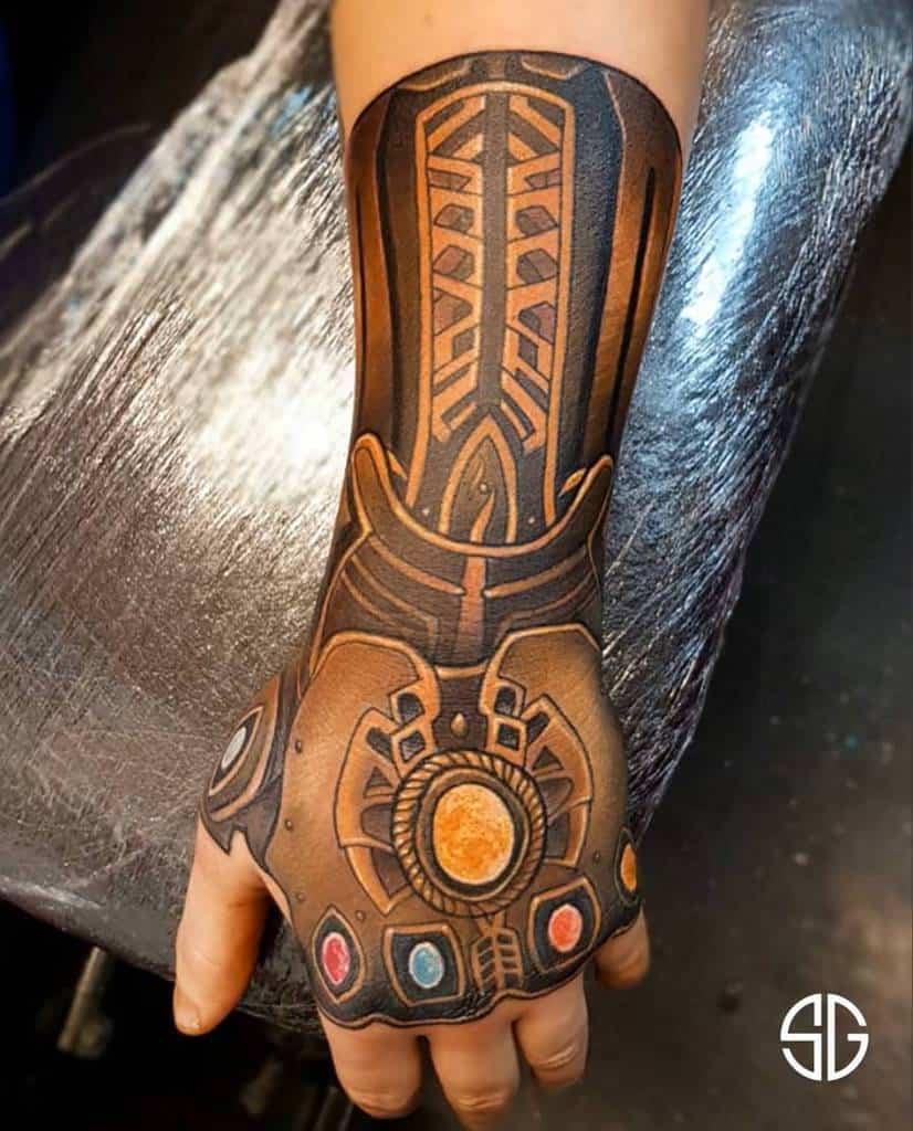 Hand Tattoo Thanos Tattoo Southgatetattoo