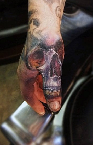 Thumb And Hand Tattoos For Guys