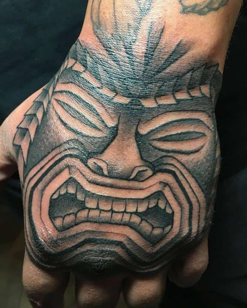 Hand Tiki Tattoo Ochoa Tattoo