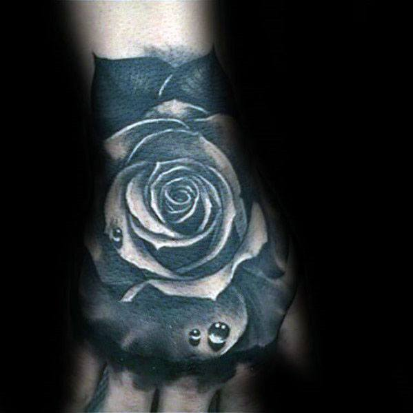 Hand Water Drop Mens Tattoo Designs
