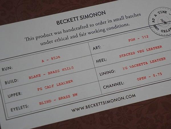 Handcrafted Mens Boots Beckett Simonon Dowler Cap Toe