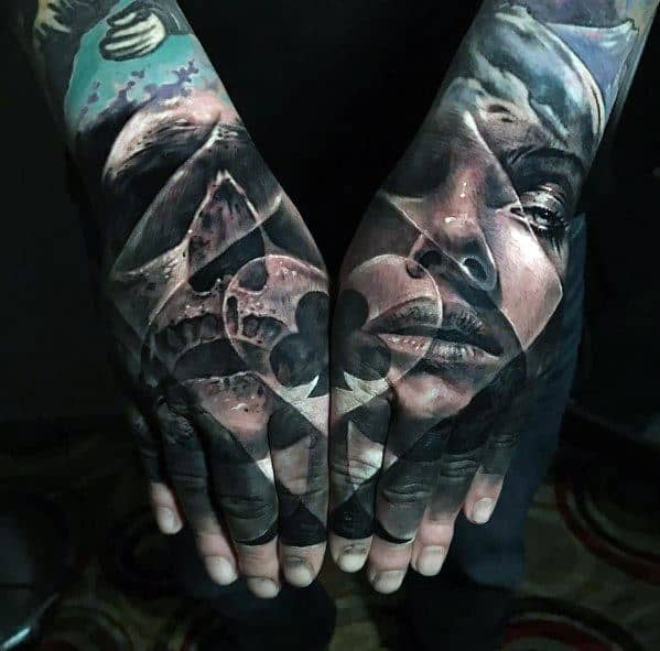 Hands Badass Skull Tattoo Designs For Guys