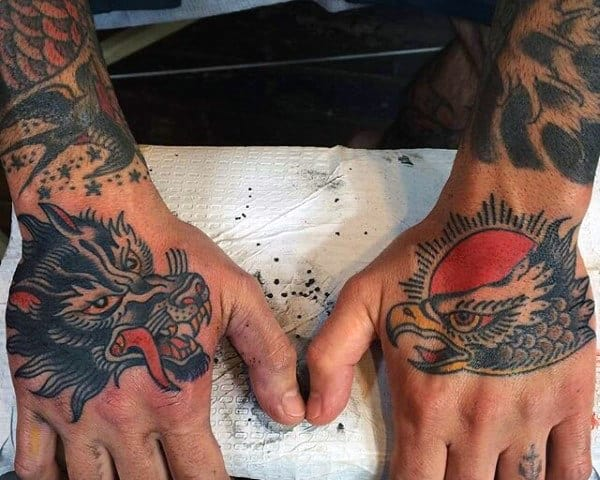 Hands Eagle Tattoos For Guys