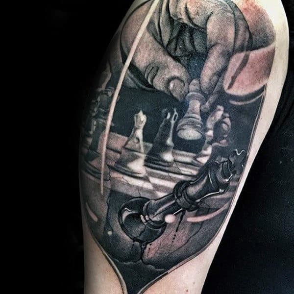 67 Most Powerful Crown Tattoos For Men: 60 King Chess Piece Tattoo Designs For Men