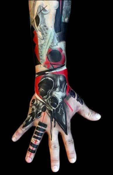 Manly Space Hands Tattoo