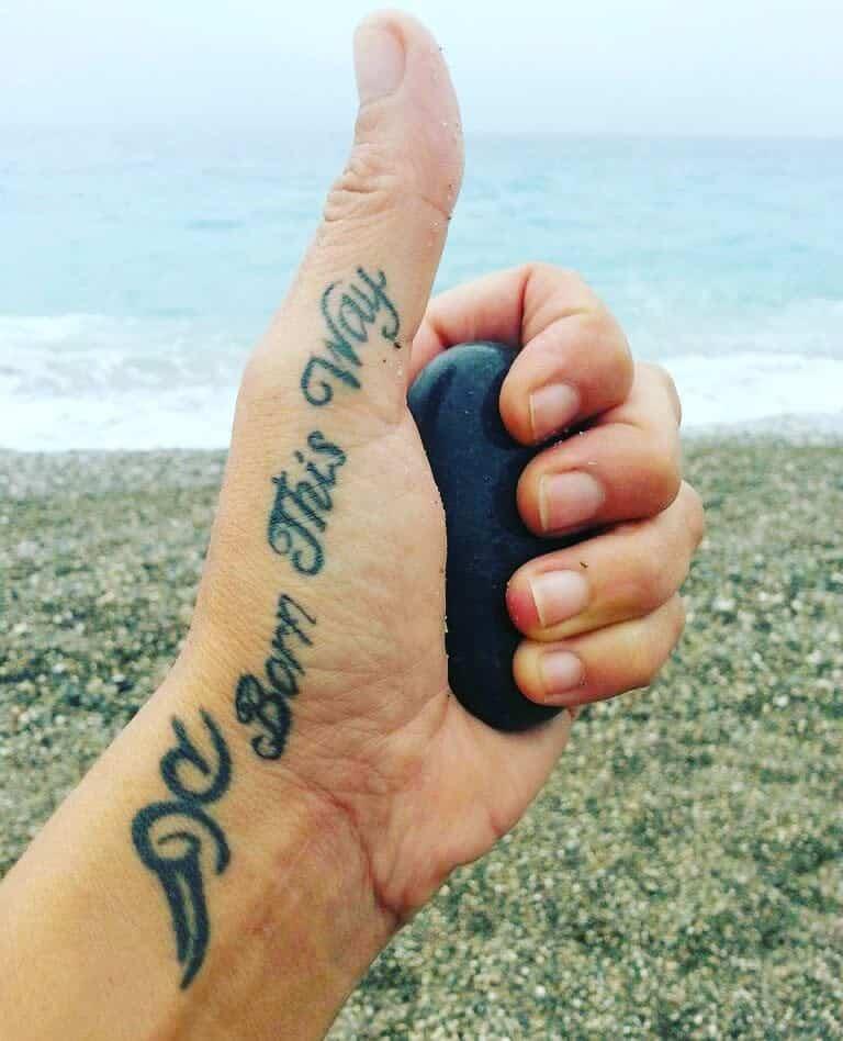 Handwriting Born This Way Tattoos Heyjoannelg6