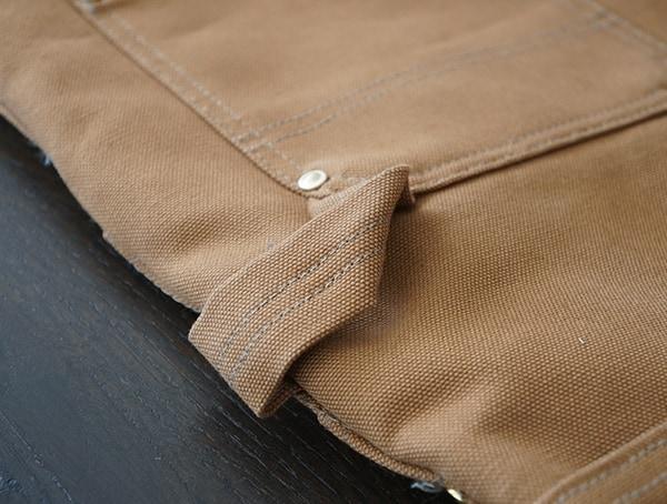 Hang Loop Carhartt Quilt Lined Zip To Thigh Bib Overalls