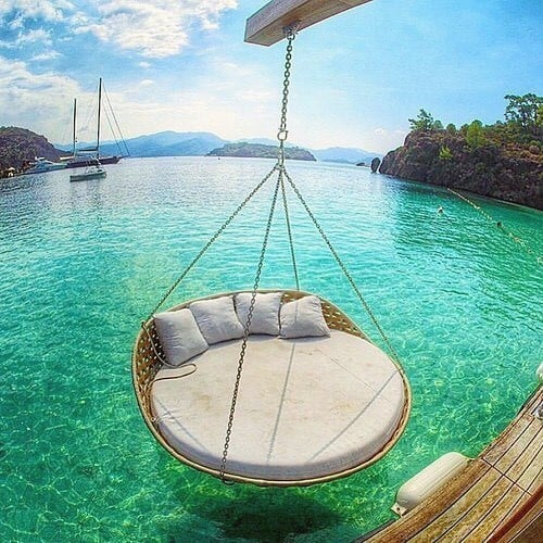 Hanging Bed Over Water