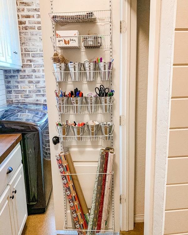 Hanging Door Organizer Craft Room