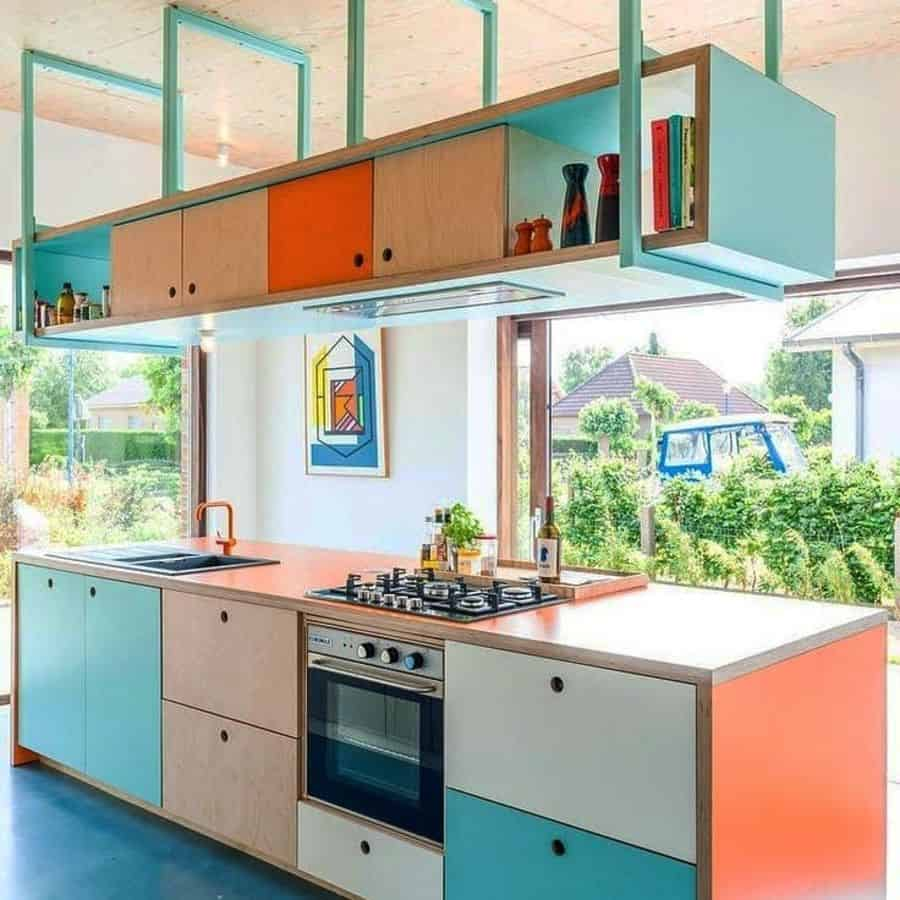 hanging kitchen shelving ideas kalakari_design