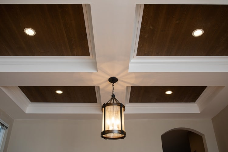 Hanging Pendant Coffered Ceiling
