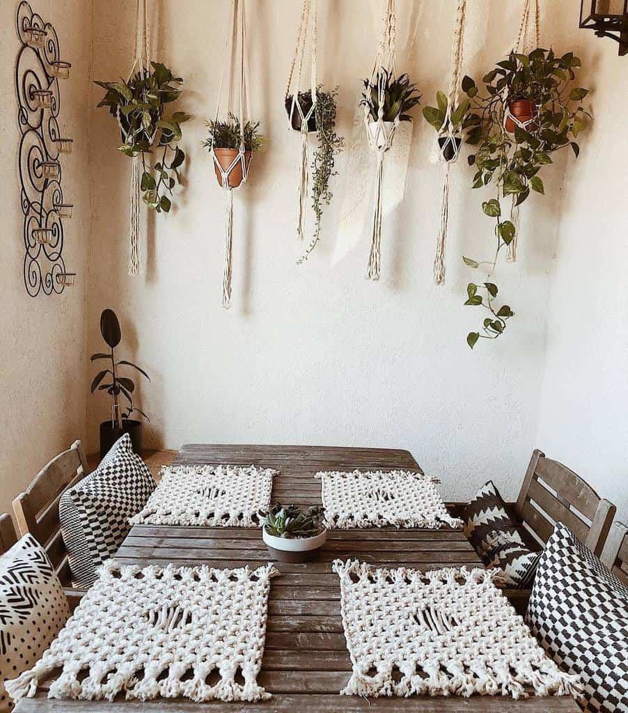 hanging planter indoor garden ideas thelittleknotshoppe