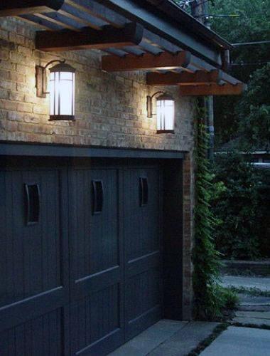 Hanging Rustic Outdoor Garage Lights