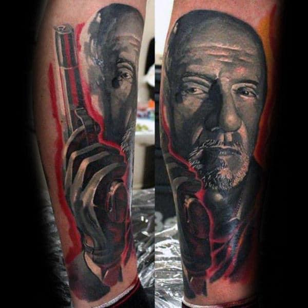 Hank Schrader Breaking Bad Guys Leg Portrait Tattoos
