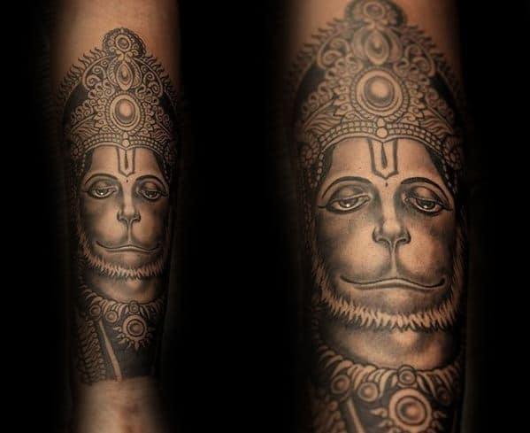 Hanuman Sleeve Tattoo 60 Hanuman Tattoo Desi...