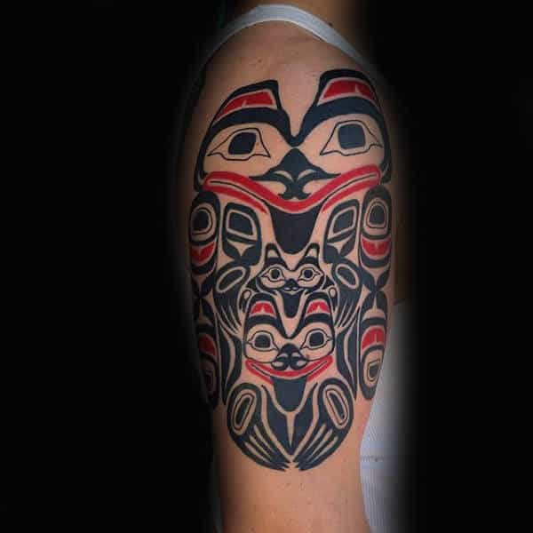 Happy Haida Tattoo Male Arms