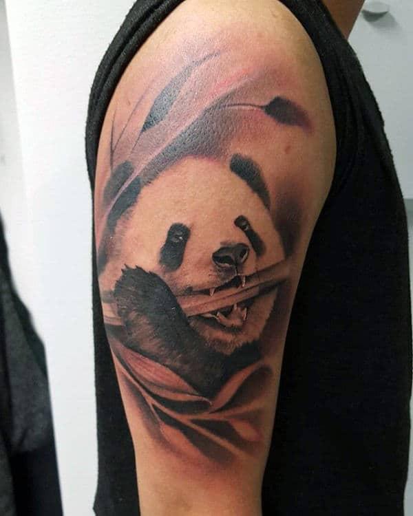 50 Bamboo Tattoo Designs For Men: 100 Panda Bear Tattoo Designs For Men