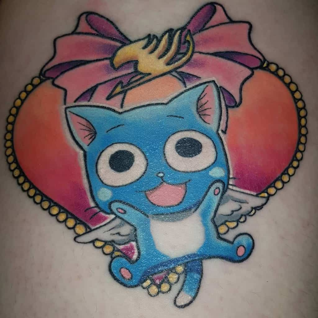 Happy The Cat Lucy Heart Filia Anime Fairytail Tattoo Queenpanpan53