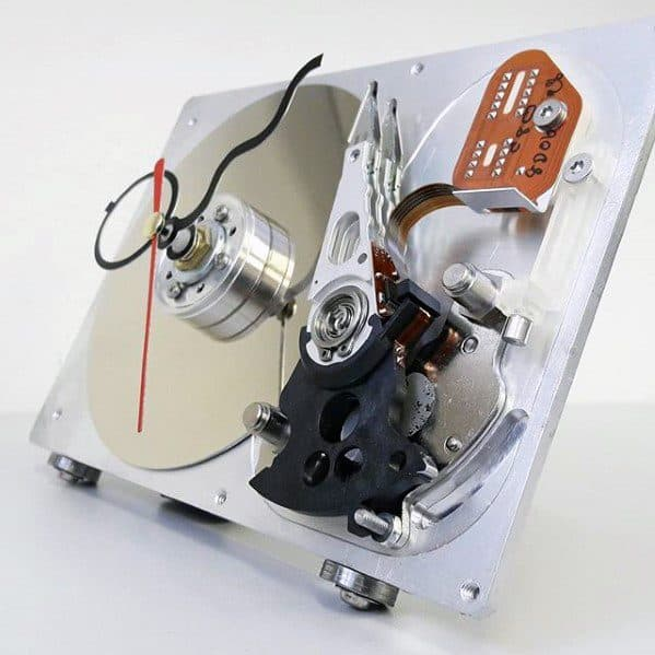 Hard Drive Clock Bachelor Pad Decor