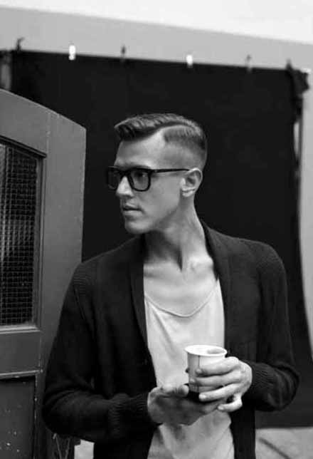 Hard Fade Old School Haircut For Men With Low Fade Sides
