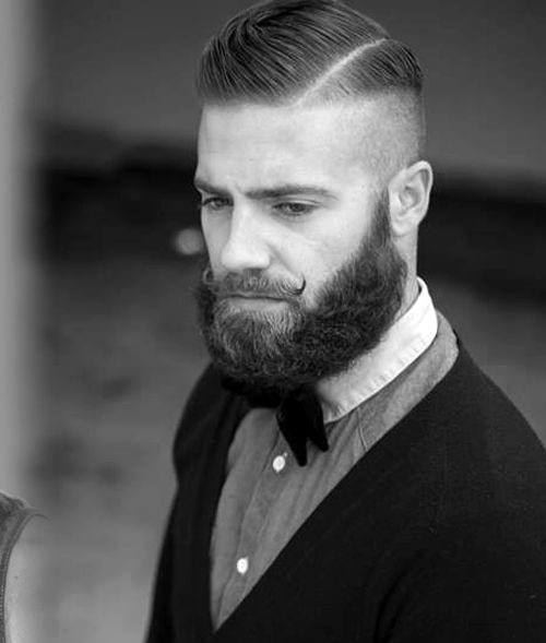 Hard Part Buzzed Sides Mens Hairstyle