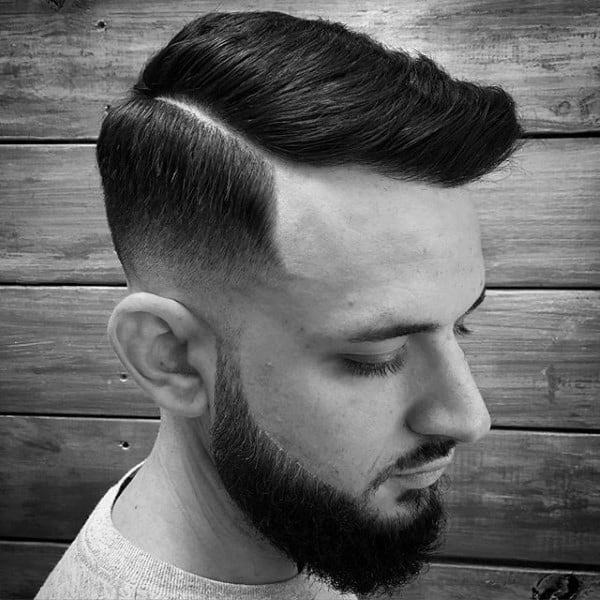 Hard Part Comb Over Haircuts For Males