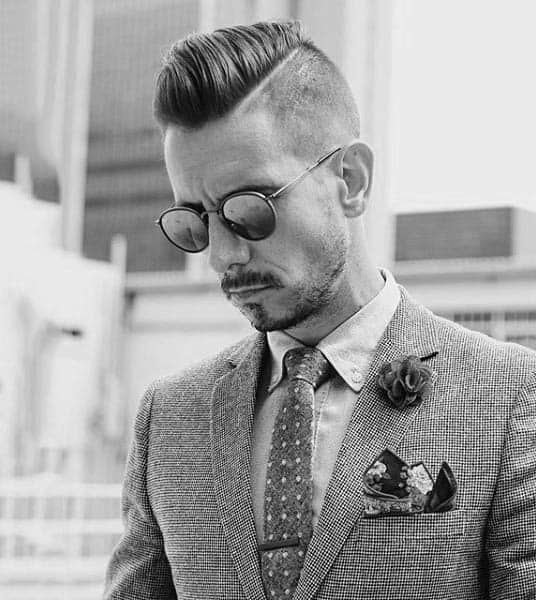 Hard Part Hairstyle Inspiration For Guys