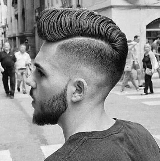 Hard Part Mens Trendy Hairstyle