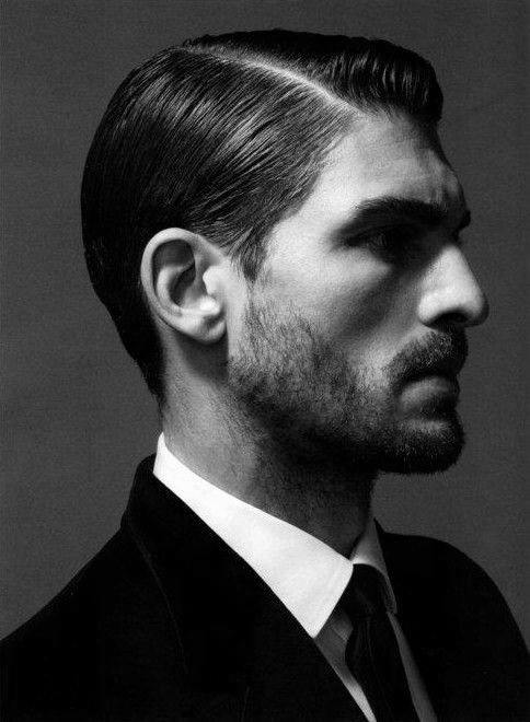 Hard Part Short Length Classic Style For Men With Thin Hair