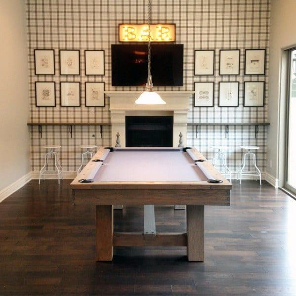 Hardwood Flooring Billiards Room Ideas